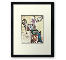 Dresses; While You Wait!(Invented By A Woman,Of Course:-) Framed Print