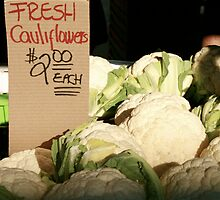 Fresh Cauliflowers by randomoasis