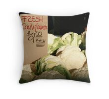 Fresh Cauliflowers Throw Pillow