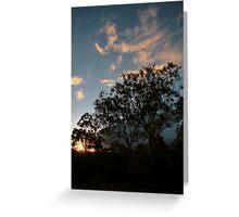 Sunset over Keperra Bushland Greeting Card