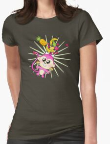 Cute baby zoo animal monkey playing maracas and dancing T-Shirt