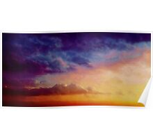 Multicoloured skies Poster