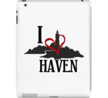 I Love Haven Black Logo iPad Case/Skin