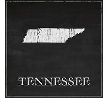 Tennessee Map Chalk Drawing Photographic Print