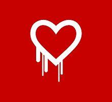 Heartbleed Bug Logo Bleeding Heart for Love by Garaga