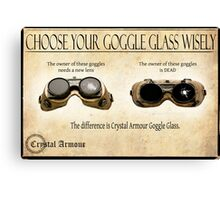 Steampunk:  Goggle Glass Canvas Print