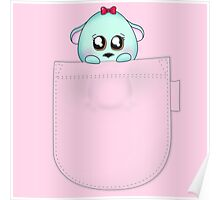 Cute pet baby animal in your pocket Poster
