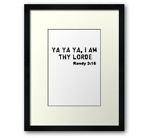 "South Park Lorde ""Randy 3:16"" Framed Print"