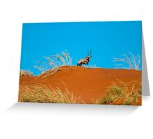 Oryx on an African Hill Greeting Card