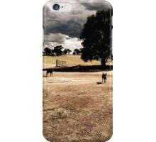 Red Kelpies on a Farm iPhone Case/Skin