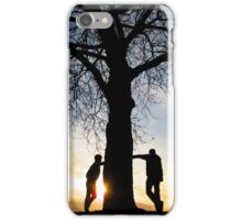 Tree Light People iPhone Case/Skin
