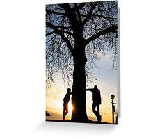 Tree Light People Greeting Card
