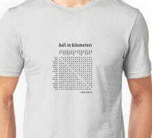 Bali in Kilometers Plain Unisex T-Shirt