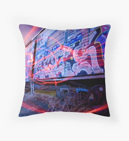 Trainyard Spirits Throw Pillow