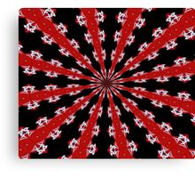 Red Black and White Abstract Canvas Print