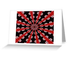 Red Black and White Abstract Greeting Card