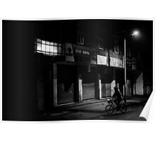 Bicycle in the night Poster