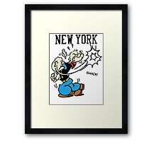 Funny New York Popeye Supreme Framed Print