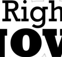 Mr Right ......... Now Tshirt Sticker
