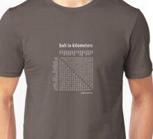 Bali in Kilometers Plain White Unisex T-Shirt