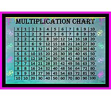 Multiplication Chart Photographic Print