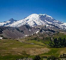 Mount Rainier on a Clear Day by journeysincolor