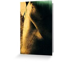 Reading nude Greeting Card