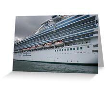 Ocean Liner Greeting Card