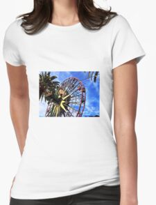 Mickey's Fun Wheel Womens Fitted T-Shirt