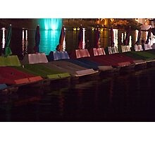 Paddle Boats on the Torrens Photographic Print