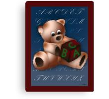 ABC Teddy Canvas Print