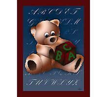 ABC Teddy Photographic Print