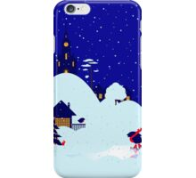 Wonderful winter landscape with bullfinch village iPhone Case/Skin