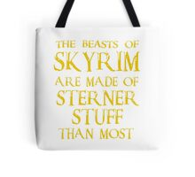 Beasts of Skyrim - gold Tote Bag