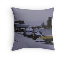 Helsinki boating Throw Pillow