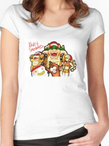 Merry Smashmas Women's Fitted Scoop T-Shirt