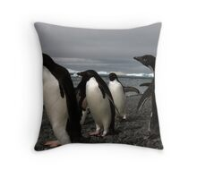 Amongst the Adelie Throw Pillow