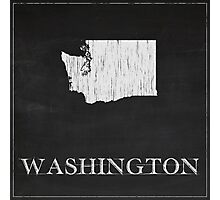 Washington Map Photographic Print