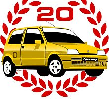 Fiat Cinquecento Sporting 20 years by car2oonz