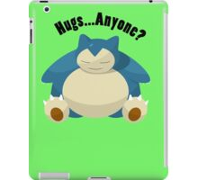 Hugs From Snorlax Anyone? iPad Case/Skin