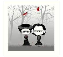 Little Sir Thomas Sharpe & Sister Art Print
