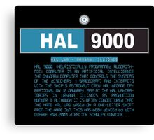 HAL 9000 Black Edition Canvas Print