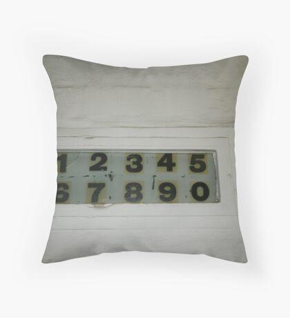 1234567890 Throw Pillow
