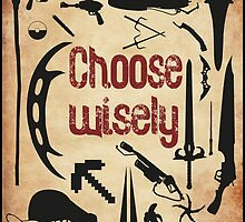 Choose wisely - Geek weapons Color by Gumley