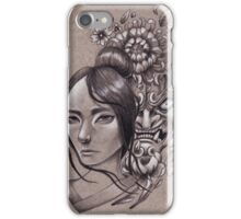 She Knows They Hide in the Flowers iPhone Case/Skin