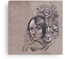 She Knows They Hide in the Flowers Metal Print