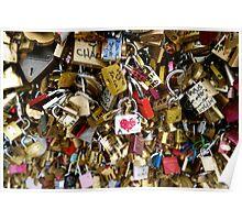 Love Locks in Paris Poster
