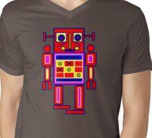 Big Bot LS Mens V-Neck T-Shirt