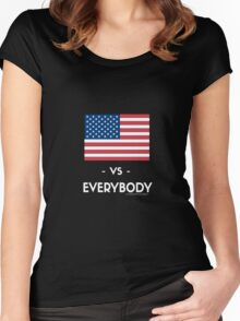 USA VS EVERYBODY Women's Fitted Scoop T-Shirt