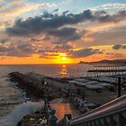 Sunset over the sea by DavidCucalon
